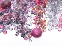 Colorful gems in white background Stock Image