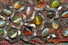 Colorful gems in the workshop. S Stock Photography