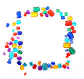 Colorful gemstones crystal border Stock Image