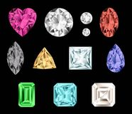 Colorful gemstones. Royalty Free Stock Images