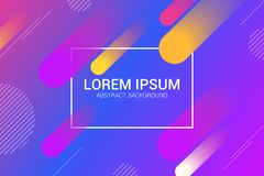 Colorful geometric abstract background. dynamic circle shapes composition. stock illustration