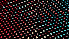 Colorful geometric abstract background with lots of squares 3D illustration. Colorful geometric abstract background with lots of squares on black backdrop 3D stock image