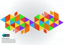 Colorful geometric abstract background vector illustration with copy space.  Stock Photography