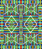 Colorful Geometric Abstract Pattern Stock Image