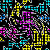 Colorful geometric abstract pattern Graffiti. (vector eps 10 Stock Images