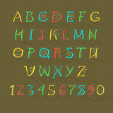 Colorful Geometric Alphabet Stock Image