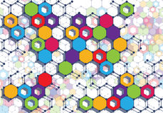 Colorful geometric backdrop Royalty Free Stock Photos