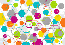 Colorful geometric backdrop Stock Photography