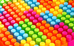 Colorful geometric background of building bricks. Lego colorful game, close-up stock image