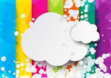 Colorful geometric background with clouds Stock Photos