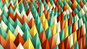 Colorful geometric background. 3D render Stock Photos