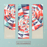 Colorful geometric background design for banners set Stock Images