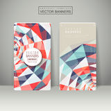 Colorful geometric background design for banners set Stock Photos