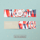 Colorful geometric background design for banners set Royalty Free Stock Image