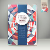 Colorful geometric background design for book cover Royalty Free Stock Photography