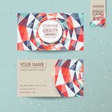 Colorful geometric background design for business card Royalty Free Stock Photography