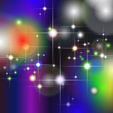 Colorful geometric background with glittering stars Royalty Free Stock Images
