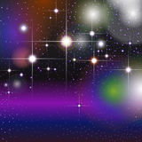 Colorful geometric background with glittering stars Stock Photography