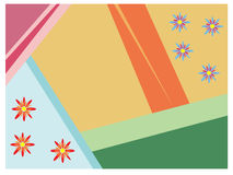 Colorful geometric background with petty blossoms Royalty Free Stock Photo