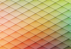 Colorful geometric background with rhombus. Blurred gradient mos Stock Photo