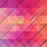Colorful geometric background. Colorful triangles abstract background. Vector illustration Stock Image