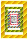 Colorful geometric borders Royalty Free Stock Image