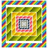Colorful geometric borders Stock Image