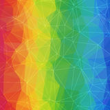 Colorful Geometric Bright Abstract Background of Asymmetric  Stock Photography