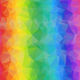Colorful Geometric Bright Abstract Background of Triangles. Triangular Rainbow Texture Stock Photo