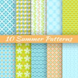 Colorful geometric bright seamless patterns Stock Photo