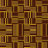 Yellow and brown repeating pattern of stripes in modern style royalty free illustration