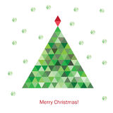 Colorful geometric christmas tree Royalty Free Stock Photography