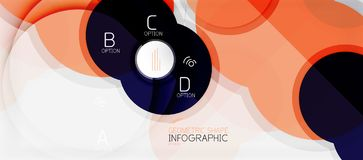 Colorful geometric circle modern abstract background Stock Photography