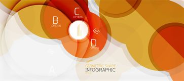 Colorful geometric circle modern abstract background. With infographics option elements. Business presentation template vector illustration