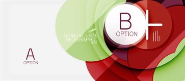 Colorful geometric circle modern abstract background Royalty Free Stock Photos