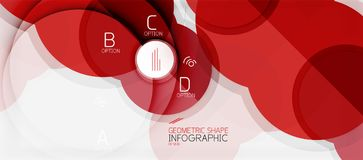 Colorful geometric circle modern abstract background Stock Photos