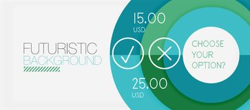 Colorful geometric circle modern abstract background. With infographics option elements. Business presentation template Royalty Free Stock Images