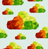Colorful geometric clouds seamless pattern backgro Stock Photography