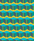 Colorful geometric flat seamless pattern Royalty Free Stock Photo