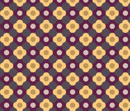Colorful Geometric floral pattern Stock Photos