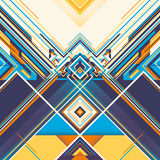 Colorful geometric graphic. Stock Images