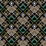 Colorful geometric greek vector seamless pattern. Modern abstrac. T ornamental waffle background. Greek key meanders geometry tiled ornament with rhombus vector illustration