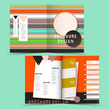 Colorful geometric half-fold brochure design. Modern colorful geometric half-fold brochure design Royalty Free Stock Images