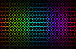 Colorful geometric hexagons background Stock Photography