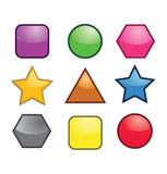 Colorful Geometric Icons Royalty Free Stock Photography