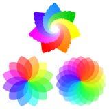 Colorful geometric mandala flower Stock Photos