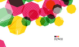 Colorful geometric modern design template Royalty Free Stock Image