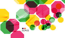 Colorful geometric modern design template Stock Photography