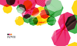 Colorful geometric modern design template Royalty Free Stock Photo