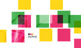 Colorful geometric modern design template Stock Image